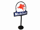 1930S MOBILOIL DOUBLE-SIDED PORCELAIN CURB SIGN