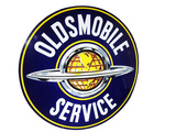 1950S OLDSMOBILE SERVICE PORCELAIN SIGN