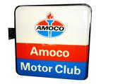 CIRCA LATE 1960-EARLY '70S AMOCO MOTOR CLUB LIGHT-UP SIGN