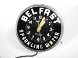 1930S BELFAST SPARKLING WATER LIGHT-UP CLOCK