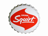 LARGE LATE 1950S-EARLY '60S SQUIRT SODA THREE-DIMENSIONAL TIN SIGN