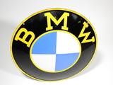 1950S BMW AUTOMOBILES CONVEX PORCELAIN SIGN