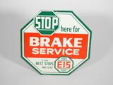 1960S EIS BRAKE SERVICE/PARTS TIN SIGN