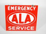 1940S EMERGENCY ALA SERVICE PORCELAIN SIGN