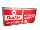 LARGE DODGE TRUCKS - AUTHORIZED SERVICE LIGHT-UP SIGN