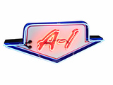 1950S FORD A-1 USED CARS NEON PORCELAIN SIGN