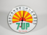 1960S 7UP GLASS-FACED DINER THERMOMETER
