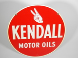 VINTAGE KENDALL MOTOR OILS TIN SIGN