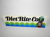 EARLY 1960S DIET RITE COLA EMBOSSED TIN SIGN