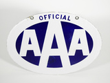 CIRCA 1930S OFFICIAL AAA PORCELAIN SIGN