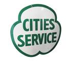 LARGE 1950S CITIES SERVICE OIL PORCELAIN SIGN