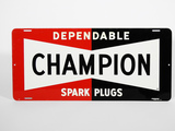 LATE 1950S-EARLY '60S CHAMPION SPARK PLUGS TIN SIGN