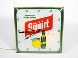 1960S SQUIRT SODA GLASS-FACED LIGHT-UP DINER CLOCK