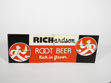 1940S RICHARDSON ROOT BEER EMBOSSED TIN SIGN