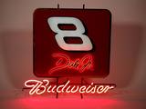 BUDWEISER/DALE JR #8 NEON SIGN
