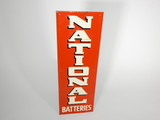 1940S-50S NATIONAL BATTERIES EMBOSSED TIN SIGN
