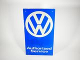 VINTAGE VOLKSWAGEN AUTHORIZED SERVICE TIN SIGN