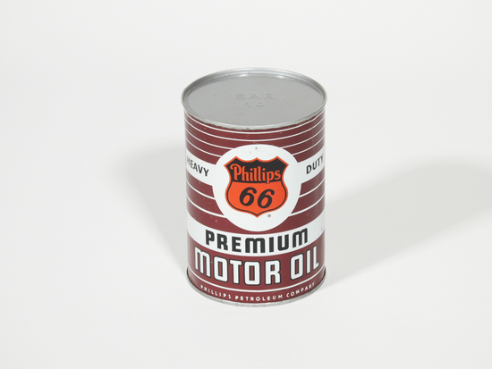 1950S PHILLIPS 66 PREMIUM MOTOR OIL METAL QUART CAN