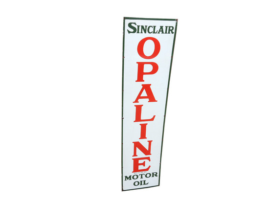 1930S SINCLAIR OPALINE MOTOR OIL PORCELAIN SIGN