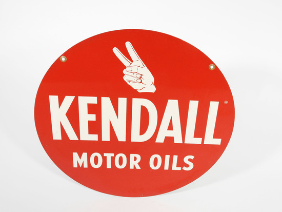 CIRCA 1960S KENDALL MOTOR OIL TIN SIGN