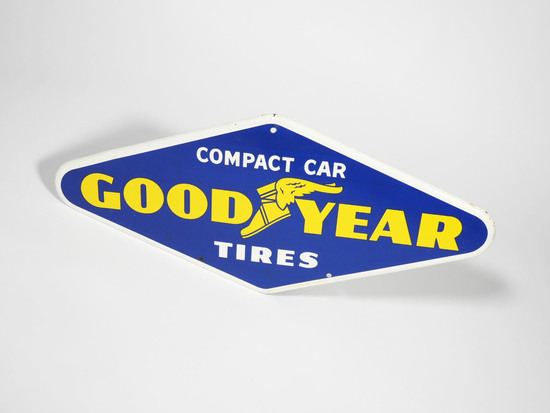 1961 GOODYEAR TIRES TIN SIGN