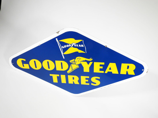 1953 GOODYEAR TIRES PORCELAIN SIGN