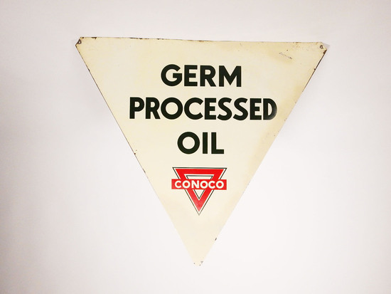 1930S CONOCO GERM PROCESSED OIL SIGN
