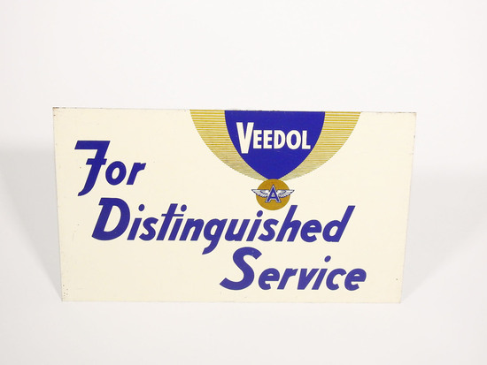 LATE 1950S-EARLY '60S VEEDOL MOTOR OIL TIN SIGN
