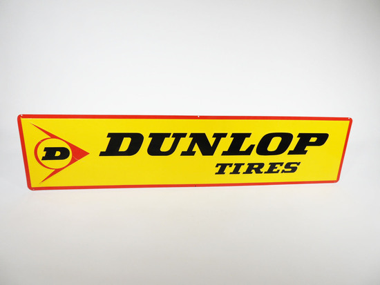VINTAGE DUNLOP TIRES EMBOSSED TIN SIGN