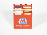 EARLY 1960S MARATHON OIL TRAVEL SERVICE ROAD MAP METAL DISPLAY