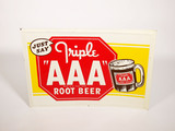 1948 AAA ROOT BEER EMBOSSED TIN SIGN
