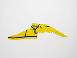 1950S GOODYEAR PORCELAIN WINGED-FOOT SIGN