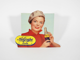 LATE 1940S-EARLY 1950S NUGRAPE SODA DIE-CUT CARDBOARD SIGN