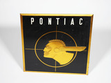 LATE 1950S-EARLY '60S PONTIAC AUTOMOBILES EMBOSSED TIN LITHO SIGN