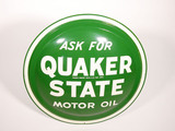 EARLY 1960S QUAKER STATE MOTOR OIL TIN