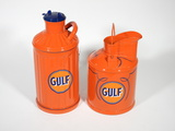 LOT OF TWO 1920S-30S BULK CANS IN GULF REGALIA