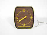 LATE 1960S CHEVROLET OK USED CARS AND TRUCKS METAL CLOCK