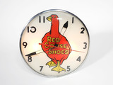 EARLY 1950S RED GOOSE SHOES LIGHT-UP CLOCK