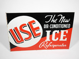 1930S AIR-CONDITIONED ICE REFRIGERATOR TIN SIGN