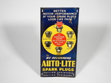 1930S AUTO-LITE SPARK PLUGS EMBOSSED TIN SIGN