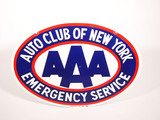 LATE 1950S-EARLY '60S AAA AUTO CLUB  OF NEW YORK PORCELAIN SIGN