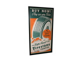 LATE 1930S-EARLY '40S FIRESTONE TIRES POSTER