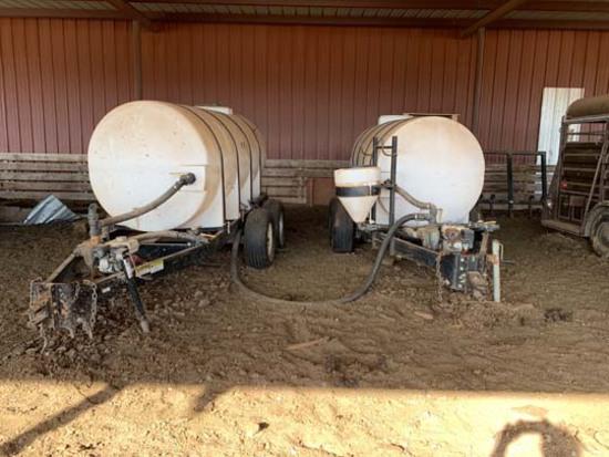 Wylie Nurse Tanks w/Honda Pumps, 1,000 gal.
