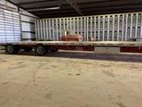 2013 - 53 ft. Doonan Platinum Aluminum Flat Trailer w/Air Weigh Scales