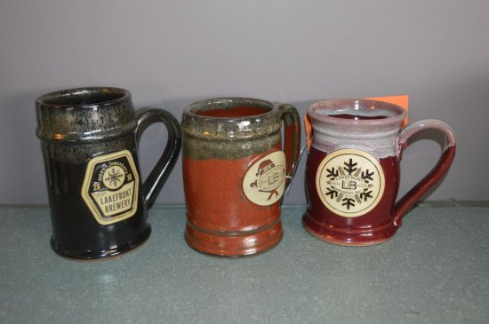 (3) ASSORTED LAKEFRONT BREWERY STEINS