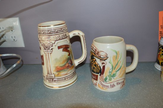 (2) LEINENKUGEL'S BEER STEINS 1993 & 1994