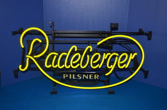PILSNER RADEBERGER YELLOW NEON LIGHT,
