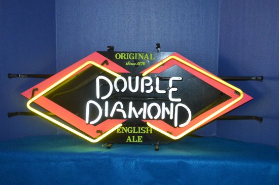 DOUBLE DIAMOND ENGLISH ALE NEON SIGN