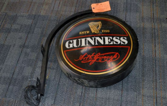 "EVERBRIGHT ""GUINNESS"" WALL MOUNT LIGHTED SIGN,"