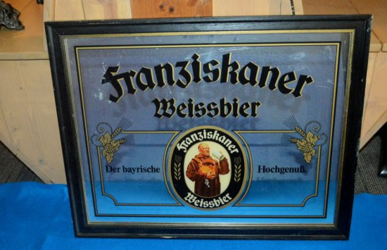 FRANZISKANER WEISSBIER MIRRORED SIGN,